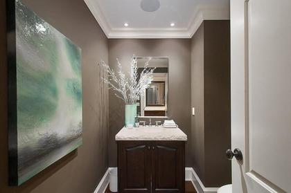 powder room at 3480 Mathers Avenue, West Bay, West Vancouver
