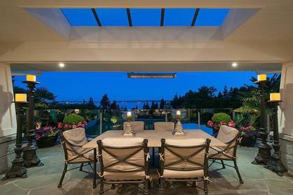 outdoor dining area at 3480 Mathers Avenue, West Bay, West Vancouver