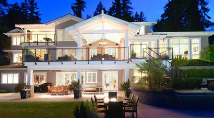 back patio at 460 Westholme Road, West Bay, West Vancouver
