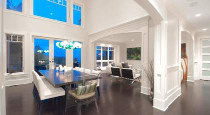 dining room at 460 Westholme Road, West Bay, West Vancouver
