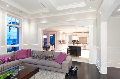 family room at 460 Westholme Road, West Bay, West Vancouver
