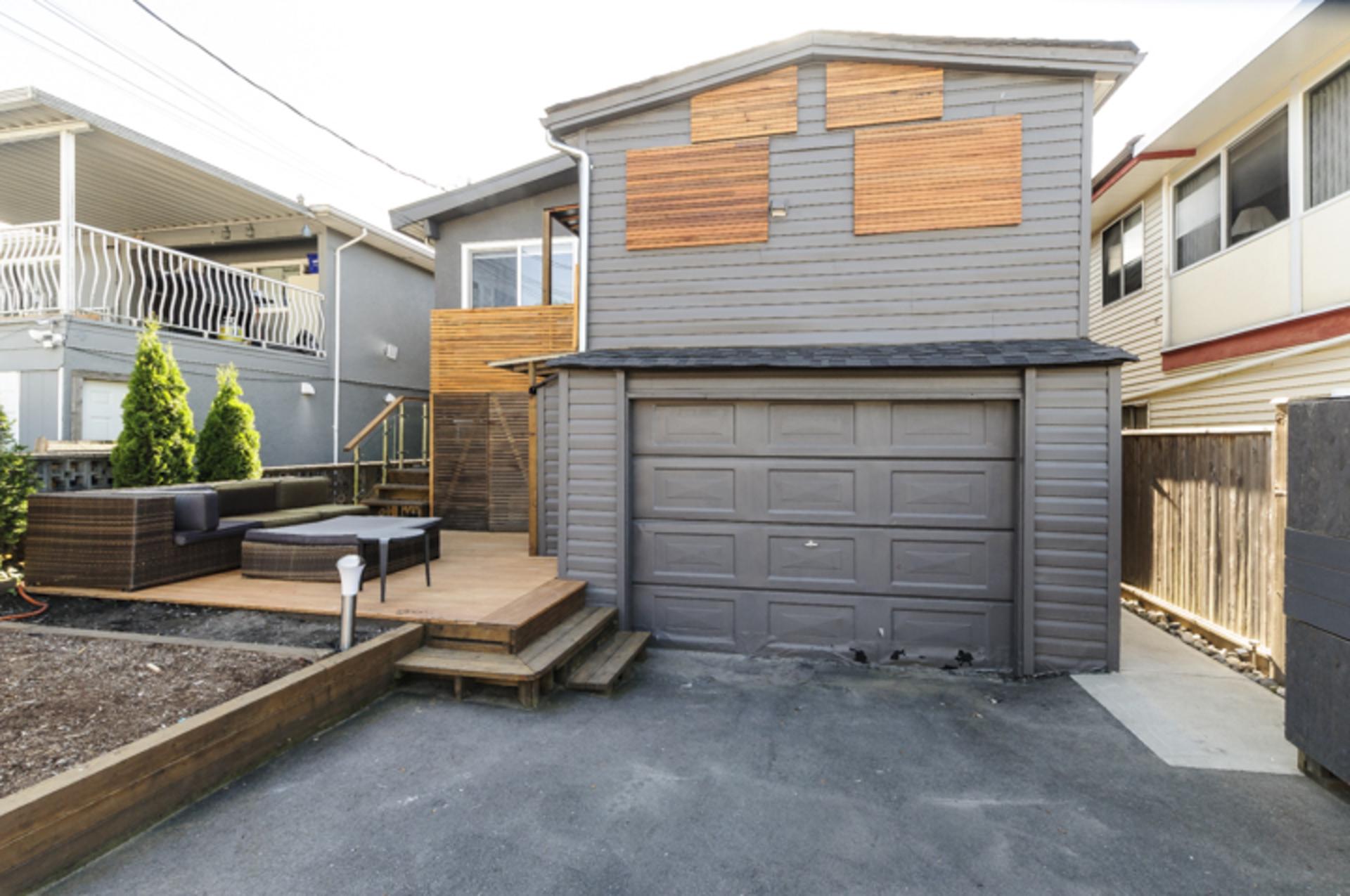 Exterior Back at 4786 Windsor Street, Fraser VE, Vancouver East