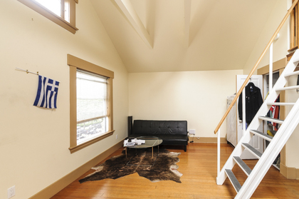 Living area of loft at 2617 West 7th Avenue, Kitsilano, Vancouver West