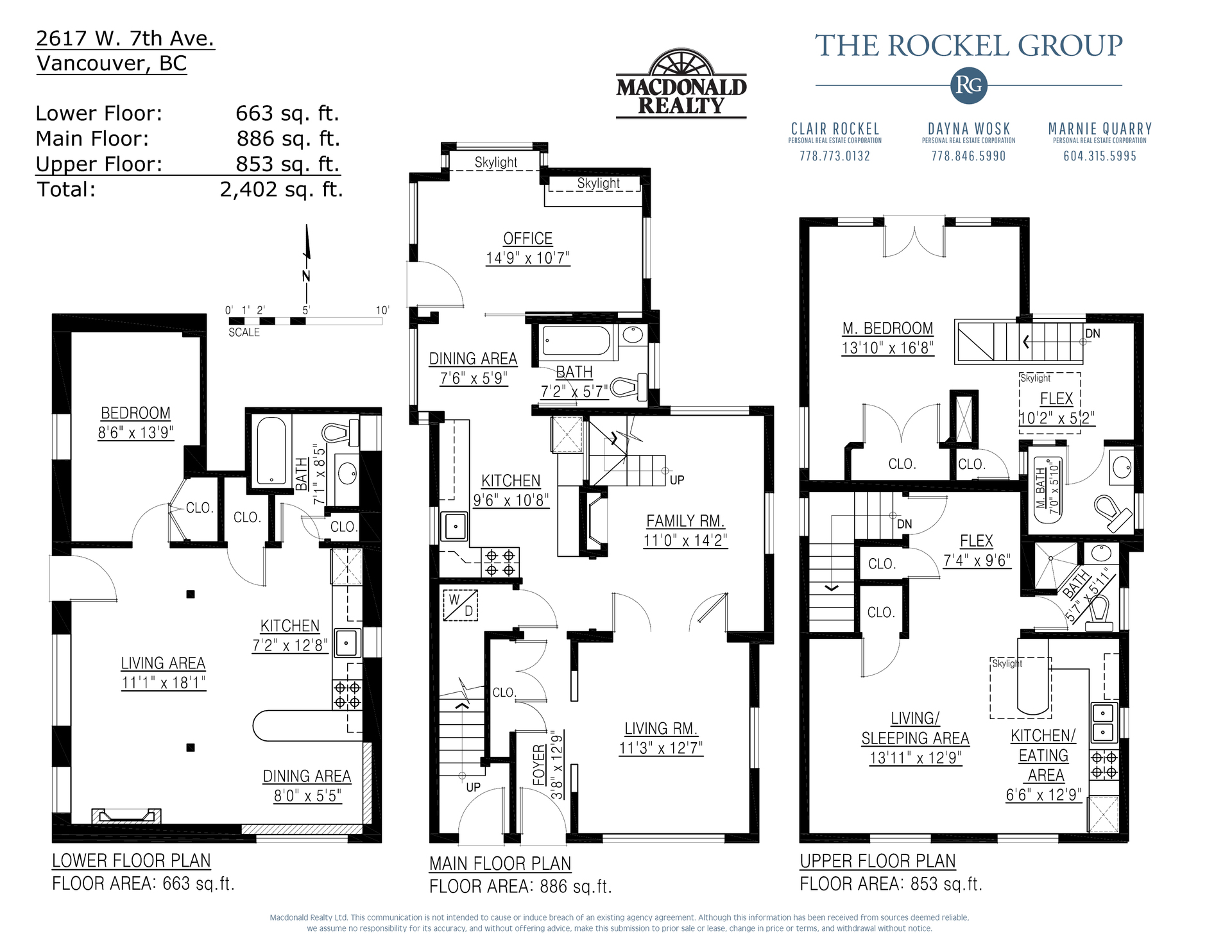 Floorplans at 2617 West 7th Avenue, Kitsilano, Vancouver West