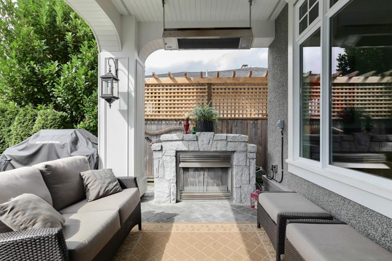 Back patio at 1447 Ottawa Avenue, Ambleside, West Vancouver