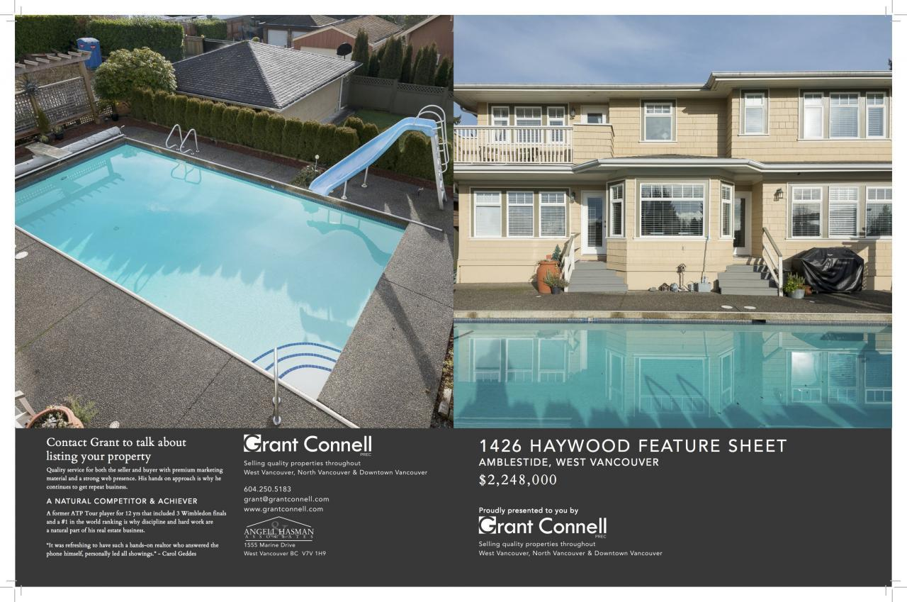 Listing Feature Sheet 11 X 17 haywood2 at 1426 Haywood Ave, Ambleside, West Vancouver
