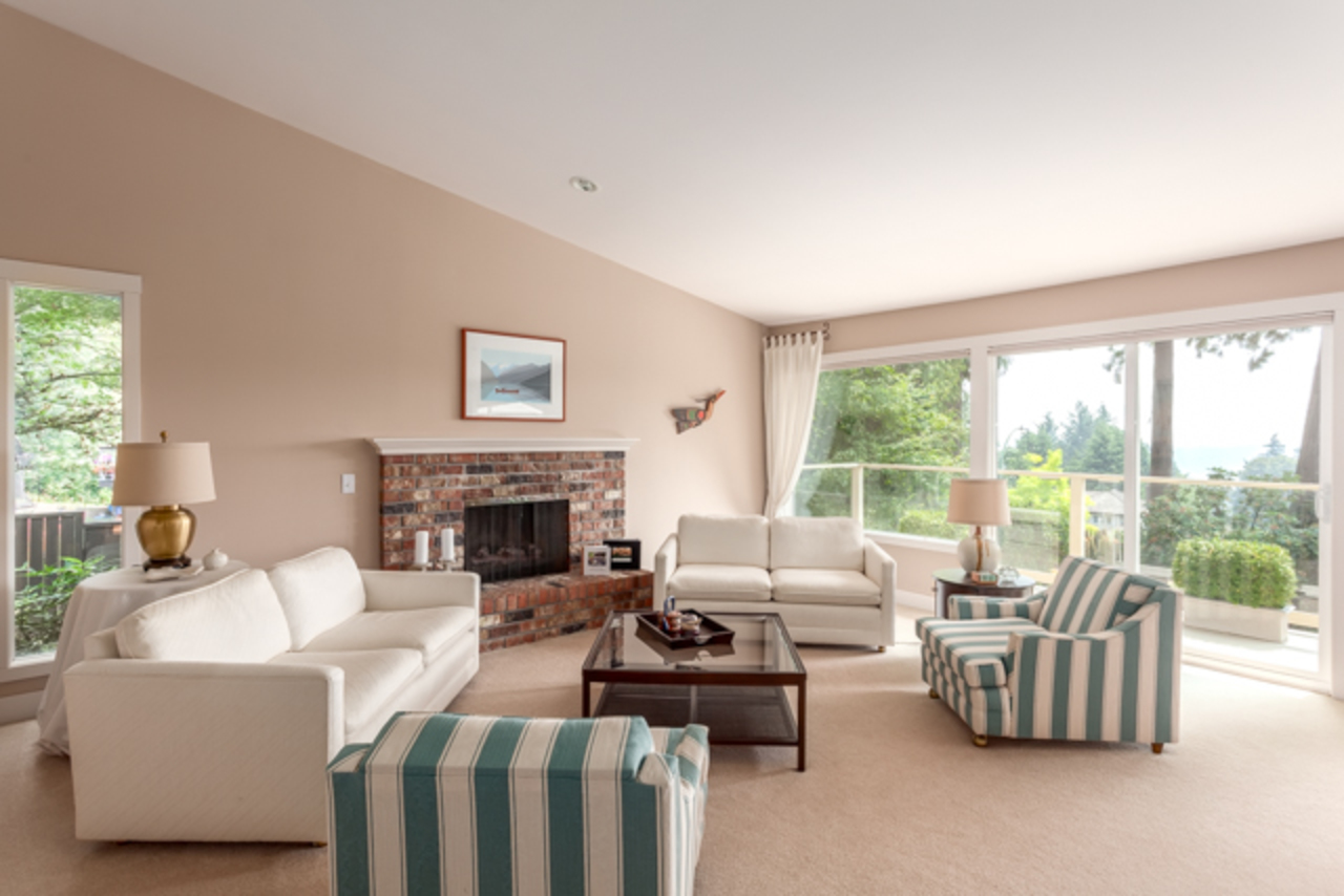 Living Room at 1355 Palmerston Avenue, British Properties, West Vancouver