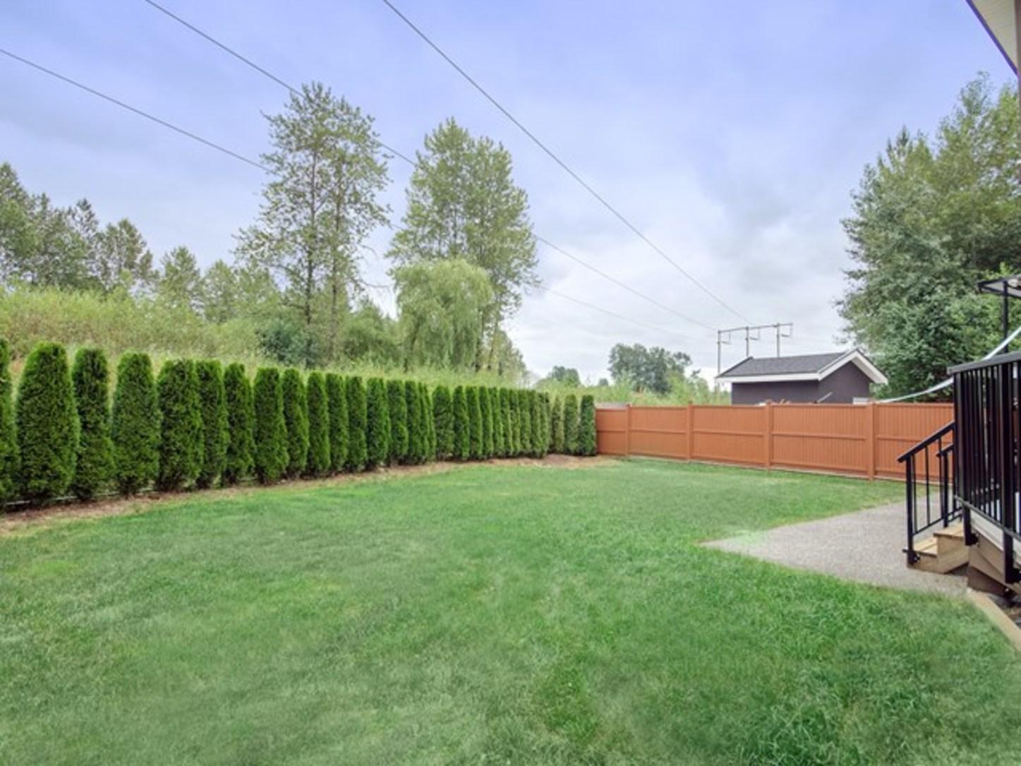 backyard at 4050 Joseph Place, Burke Mountain, Coquitlam