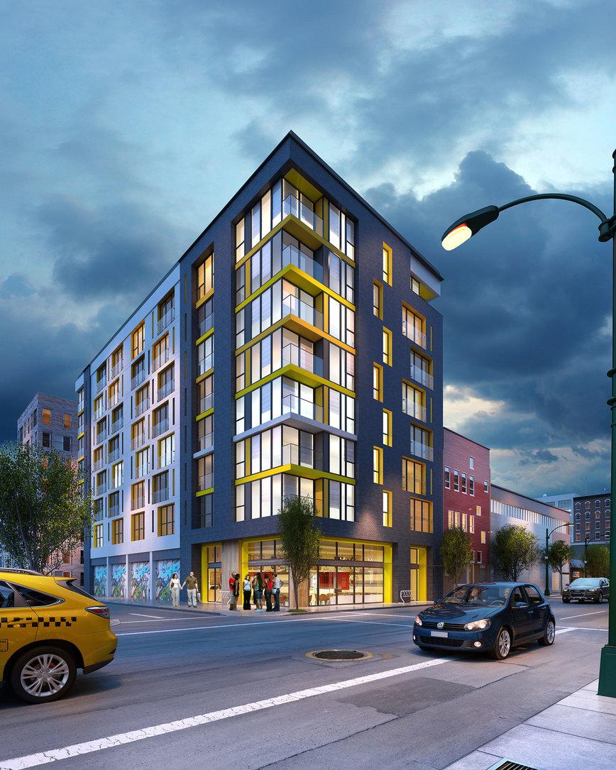 InGastown---Exterior-Night-Render at 207 - 150 E Cordova Street, Downtown VW, Vancouver West