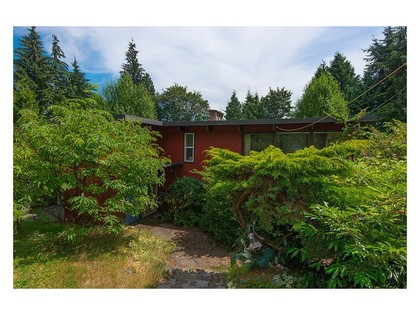 Backside view at 780 Anderson Crescent, Sentinel Hill, West Vancouver