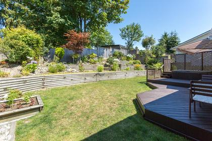 Patio at 10 Simon Fraser Court, College Park PM, Port Moody