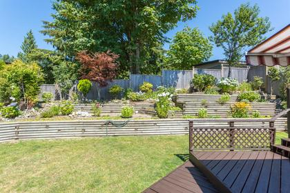 Backyard at 10 Simon Fraser Court, College Park PM, Port Moody