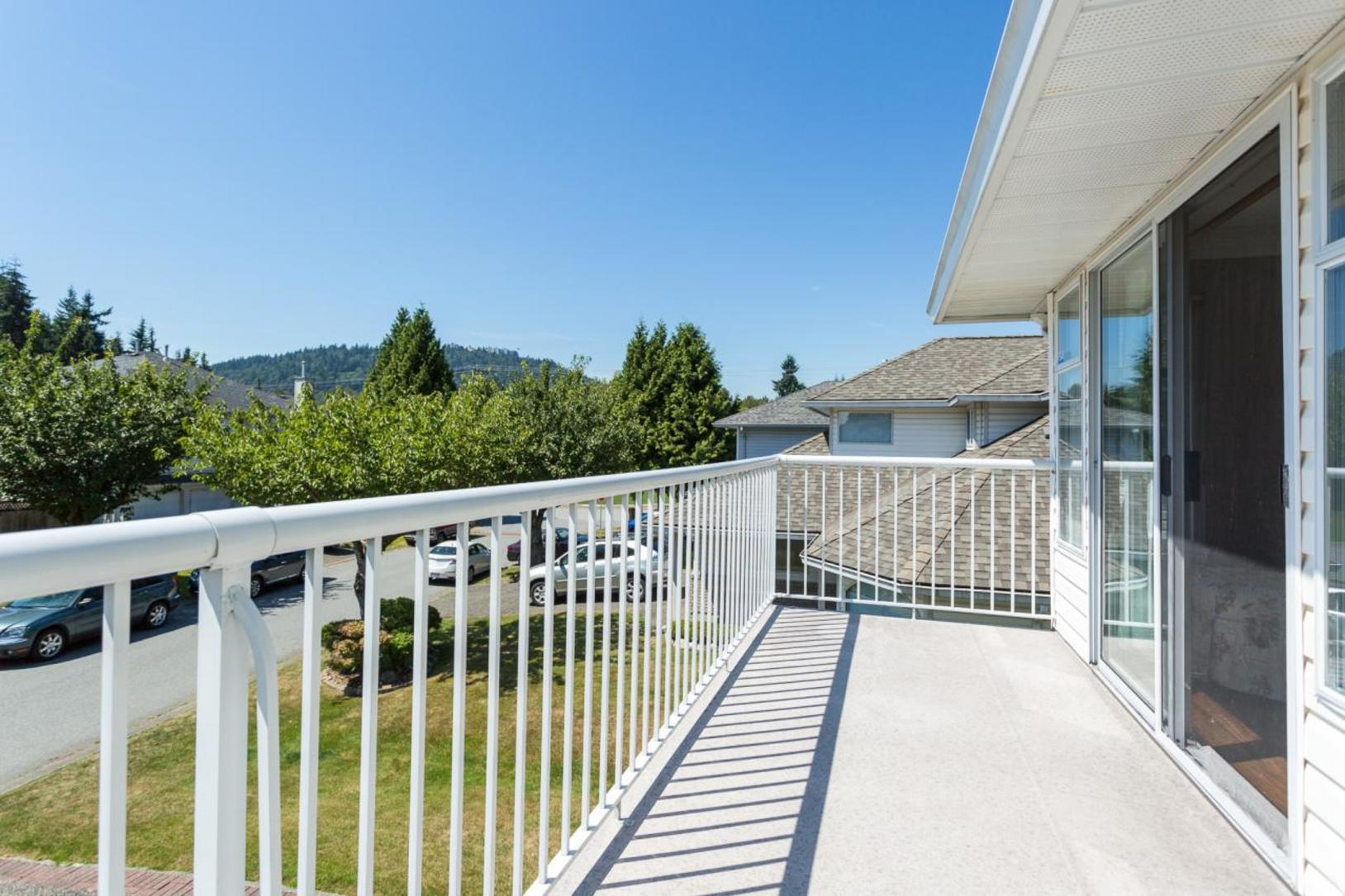 Balcony at 10 Simon Fraser Court, College Park PM, Port Moody