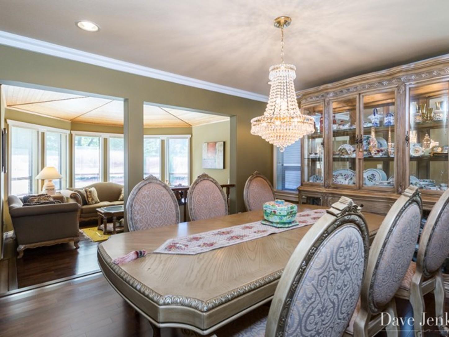 Dinning room at 9031 Briar Road,