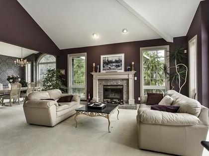 Living room at 2558 Diamond Crescent, Westwood Plateau, Coquitlam