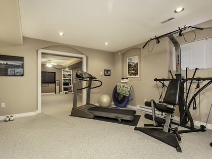 Exercise room at 2558 Diamond Crescent, Westwood Plateau, Coquitlam