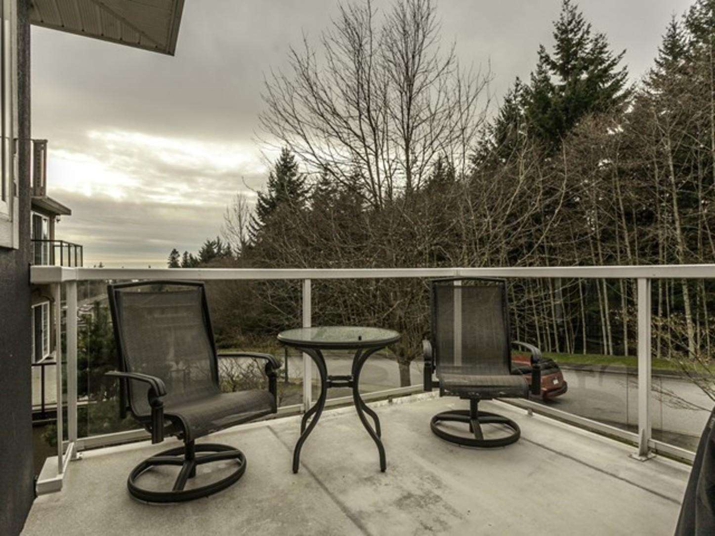 Balcony at 2558 Diamond Crescent, Westwood Plateau, Coquitlam