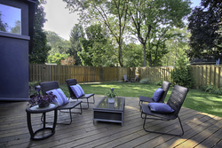 Backyard at 12 Mallow Road, Banbury-Don Mills, Toronto