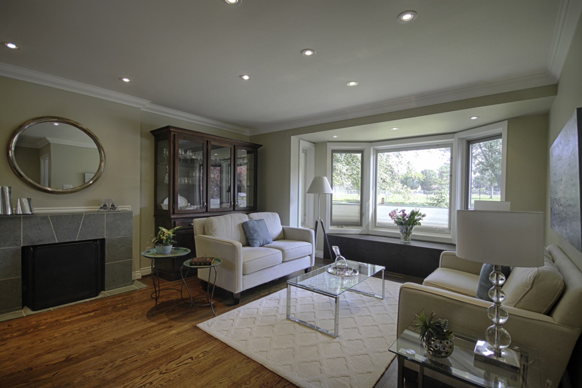 Living Room at 12 Mallow Road, Banbury-Don Mills, Toronto