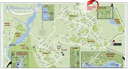 kitimat-map at  1851 Kingfisher Avenue, Kitimat, North Coast