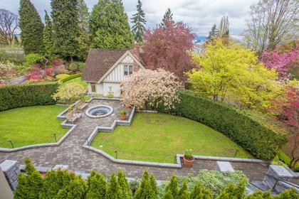 Backyard Aerial at  1333 The Crescent, Shaughnessy, Vancouver West