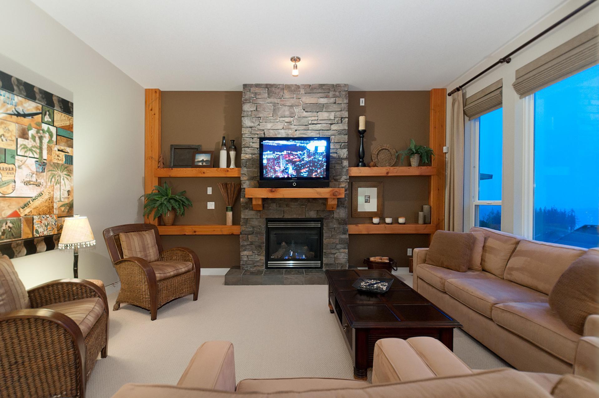 Family with Gas Fireplace