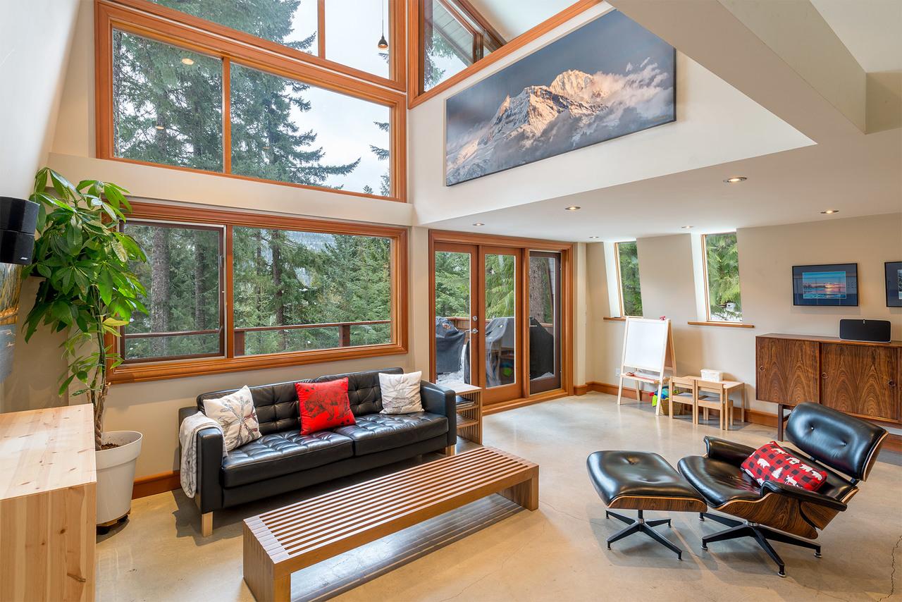 Living Room at 9287 Emerald Drive, Emerald Estates, Whistler