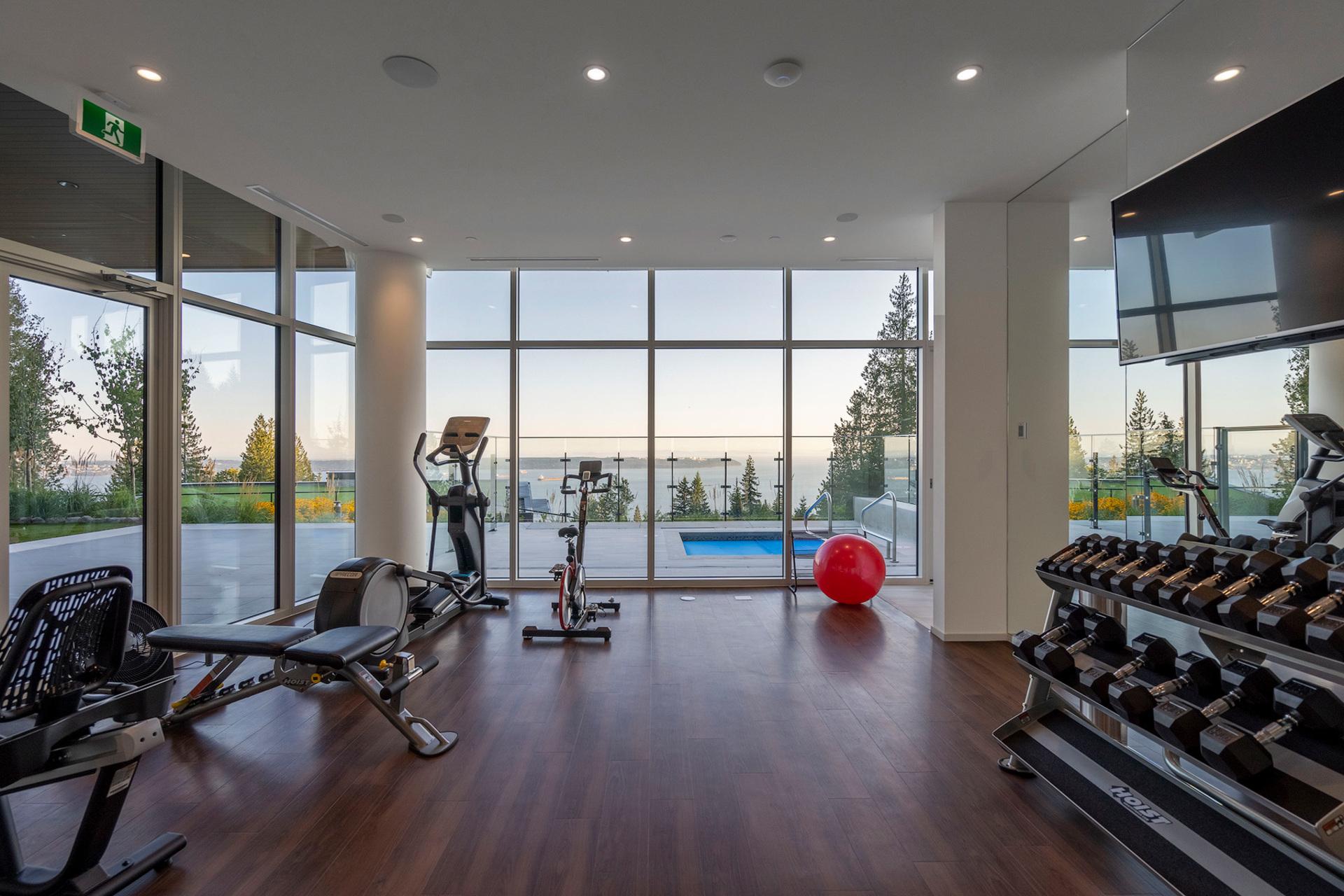 gym at 402 - 2958 Burfield Place, Cypress Park Estates, West Vancouver