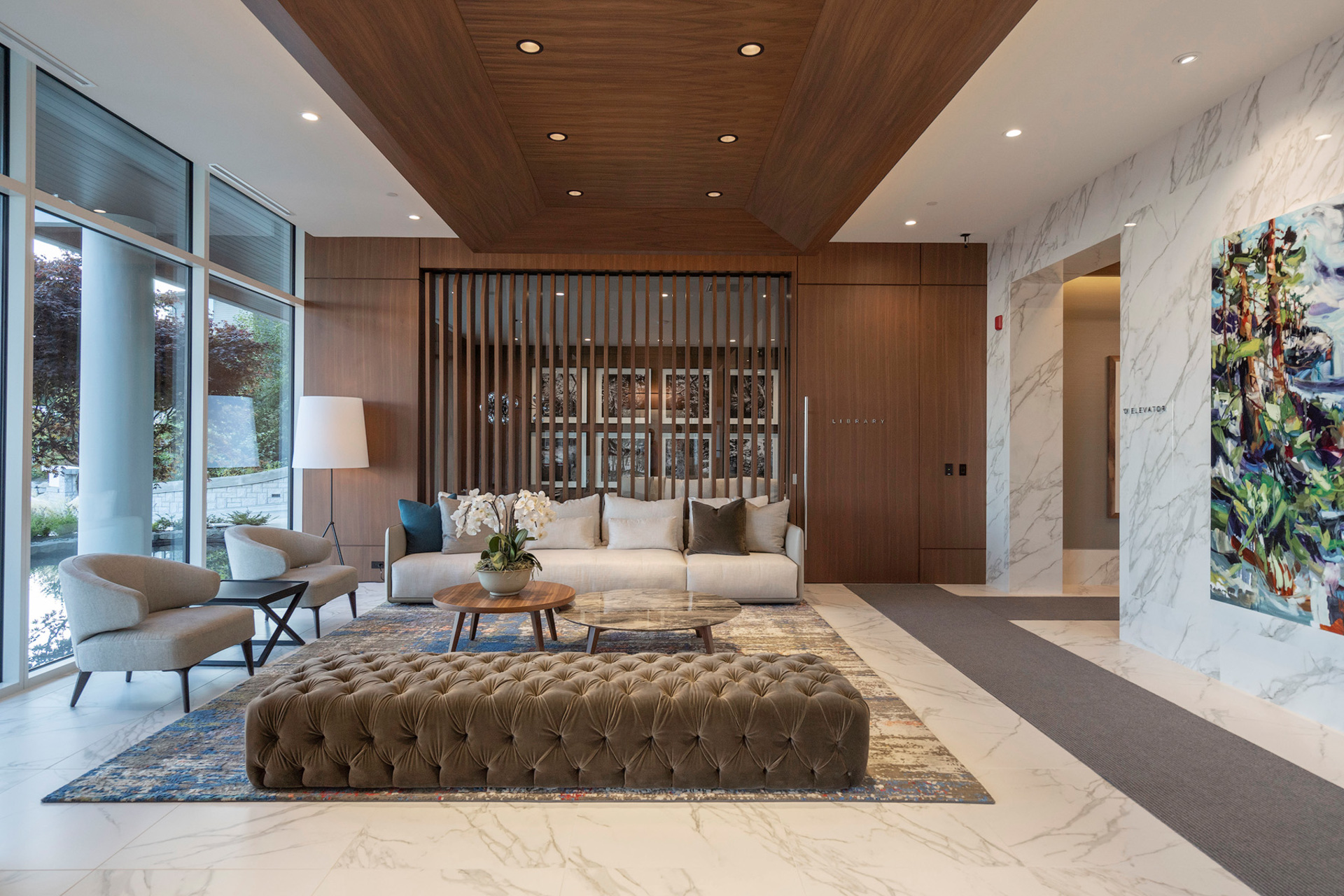 lobby-area at 402 - 2958 Burfield Place, Cypress Park Estates, West Vancouver