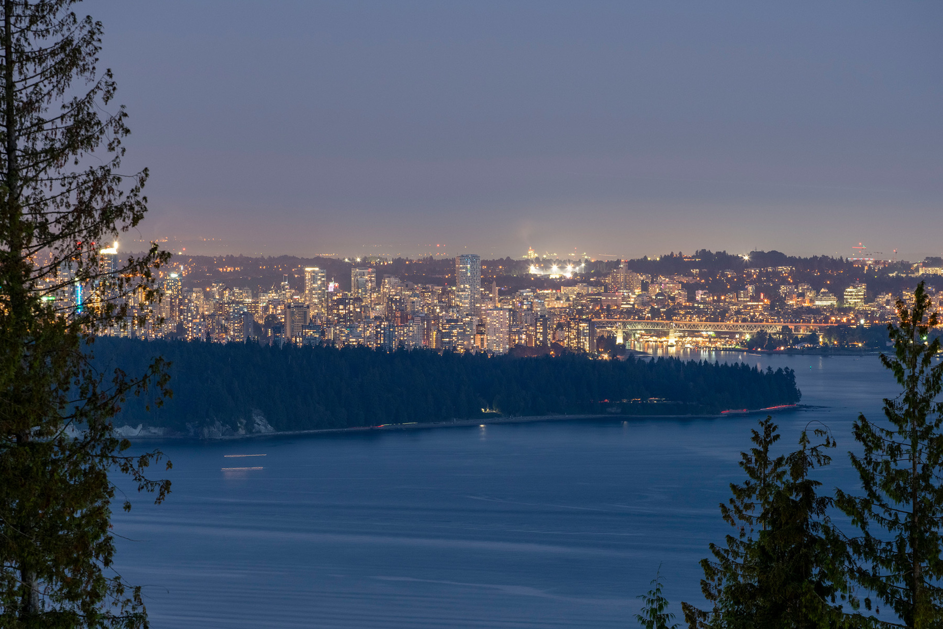 night-view at 402 - 2958 Burfield Place, Cypress Park Estates, West Vancouver