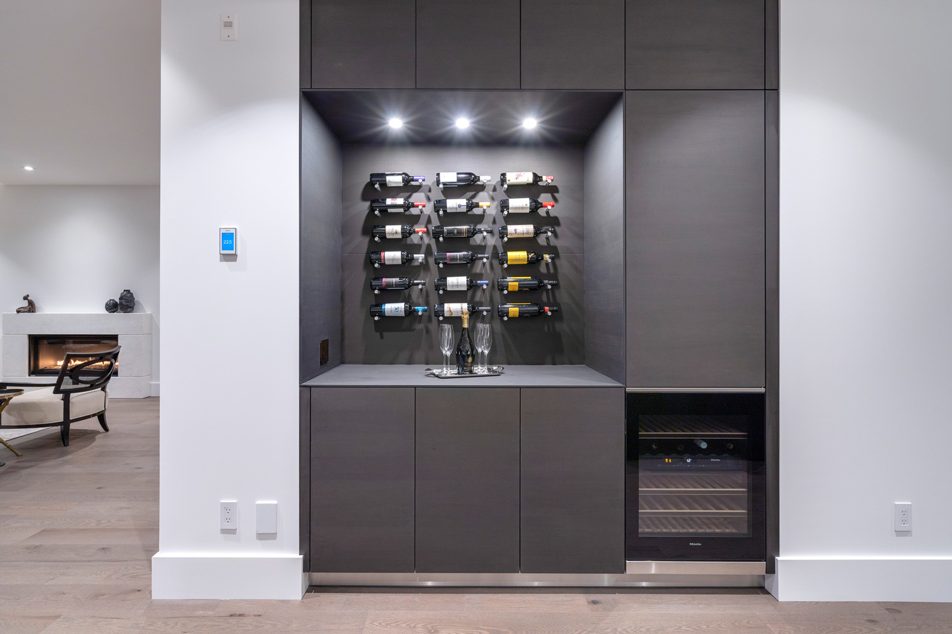 wetbar at 402 - 2958 Burfield Place, Cypress Park Estates, West Vancouver