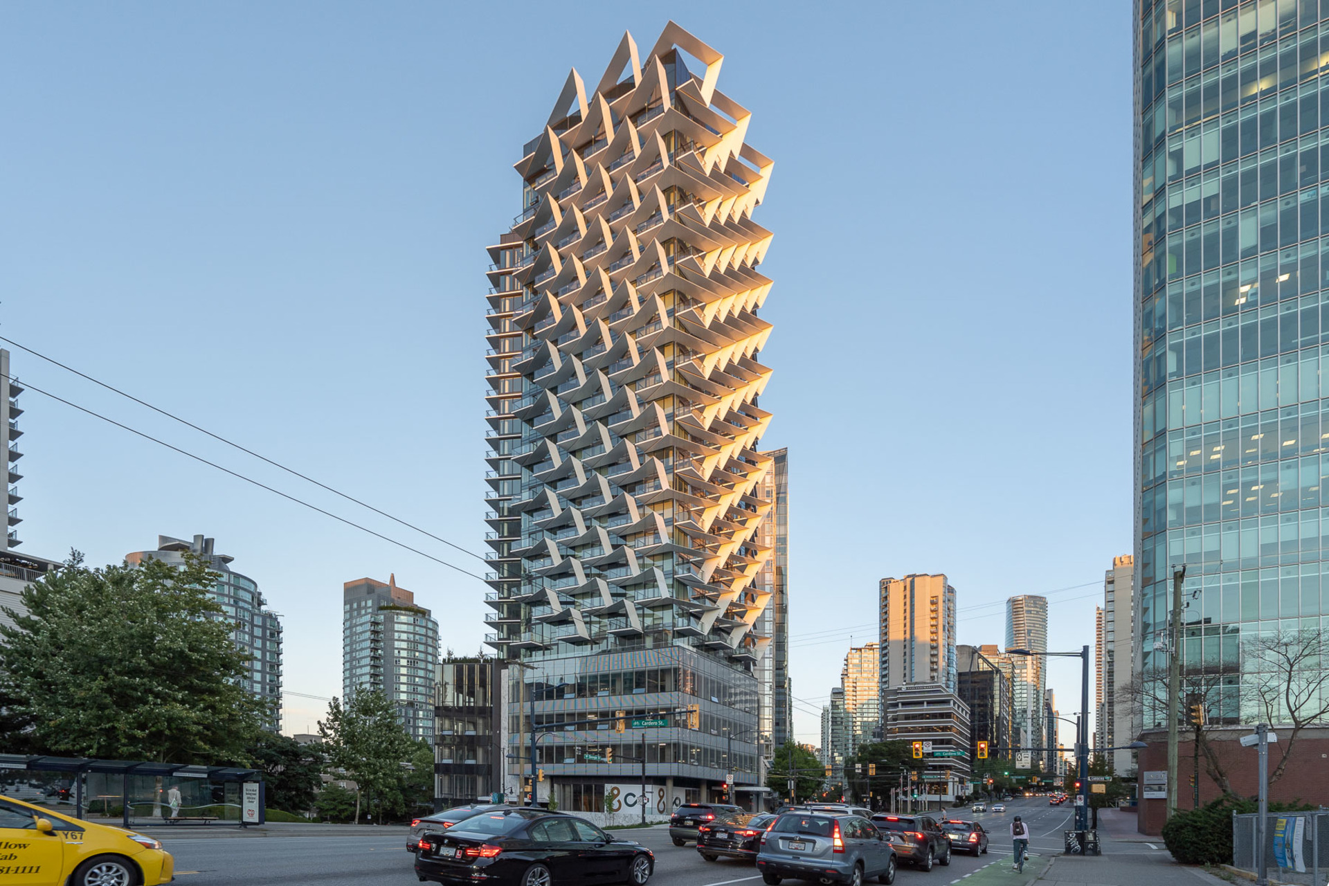 exterior at 1304 - 620 Cardero, Coal Harbour, Vancouver West