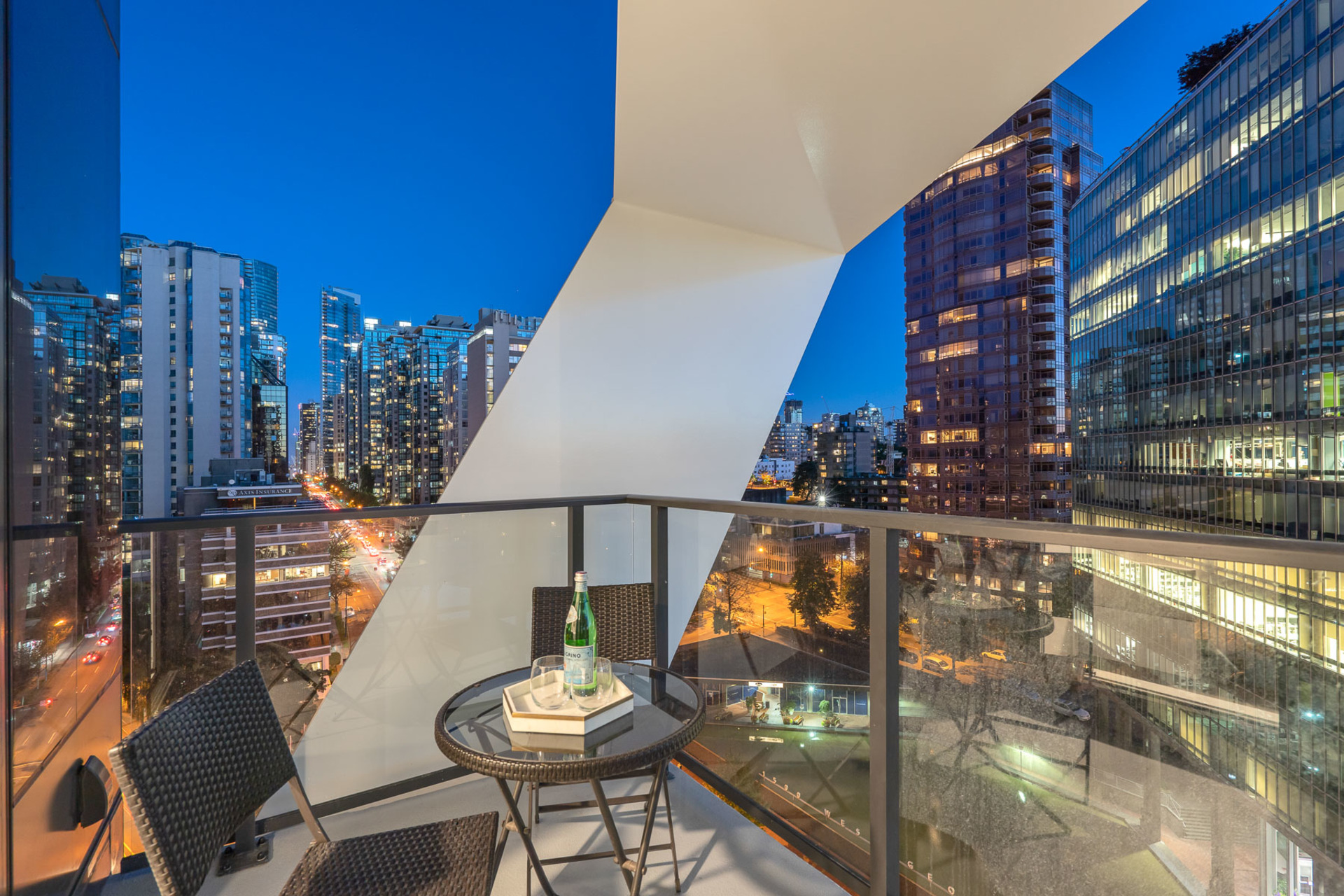 view-2 at 1304 - 620 Cardero, Coal Harbour, Vancouver West