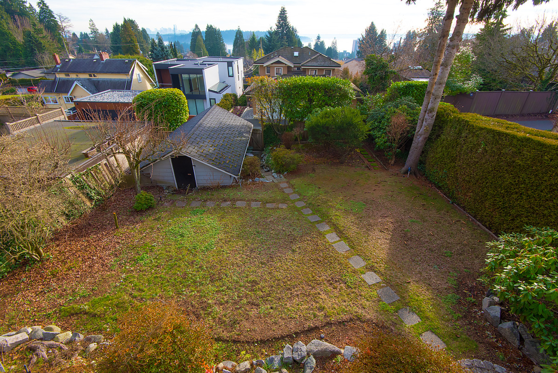 backyard at 1424 Lawson, Ambleside, West Vancouver