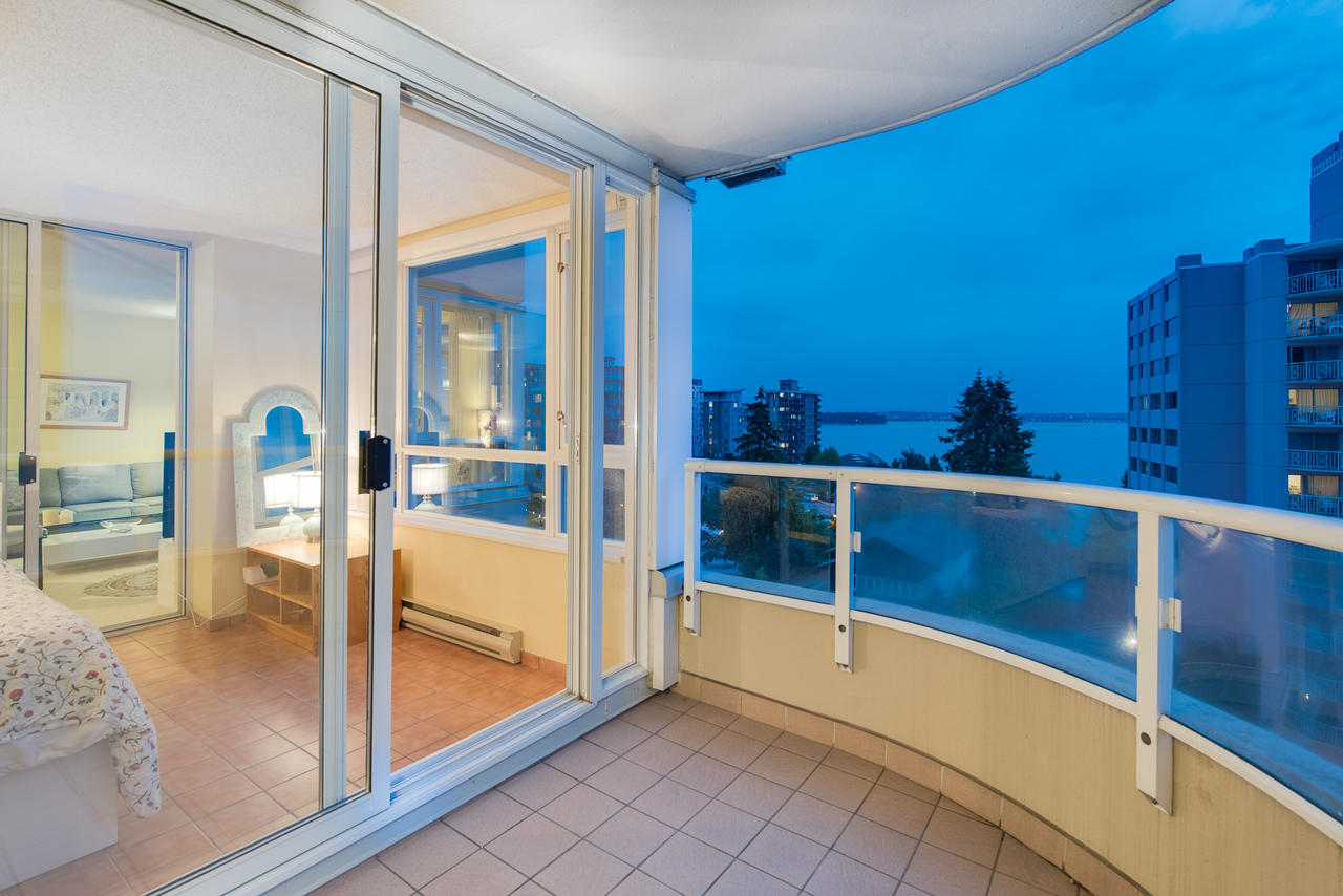 balcony at 802 - 2203 Bellevue, Dundarave, West Vancouver