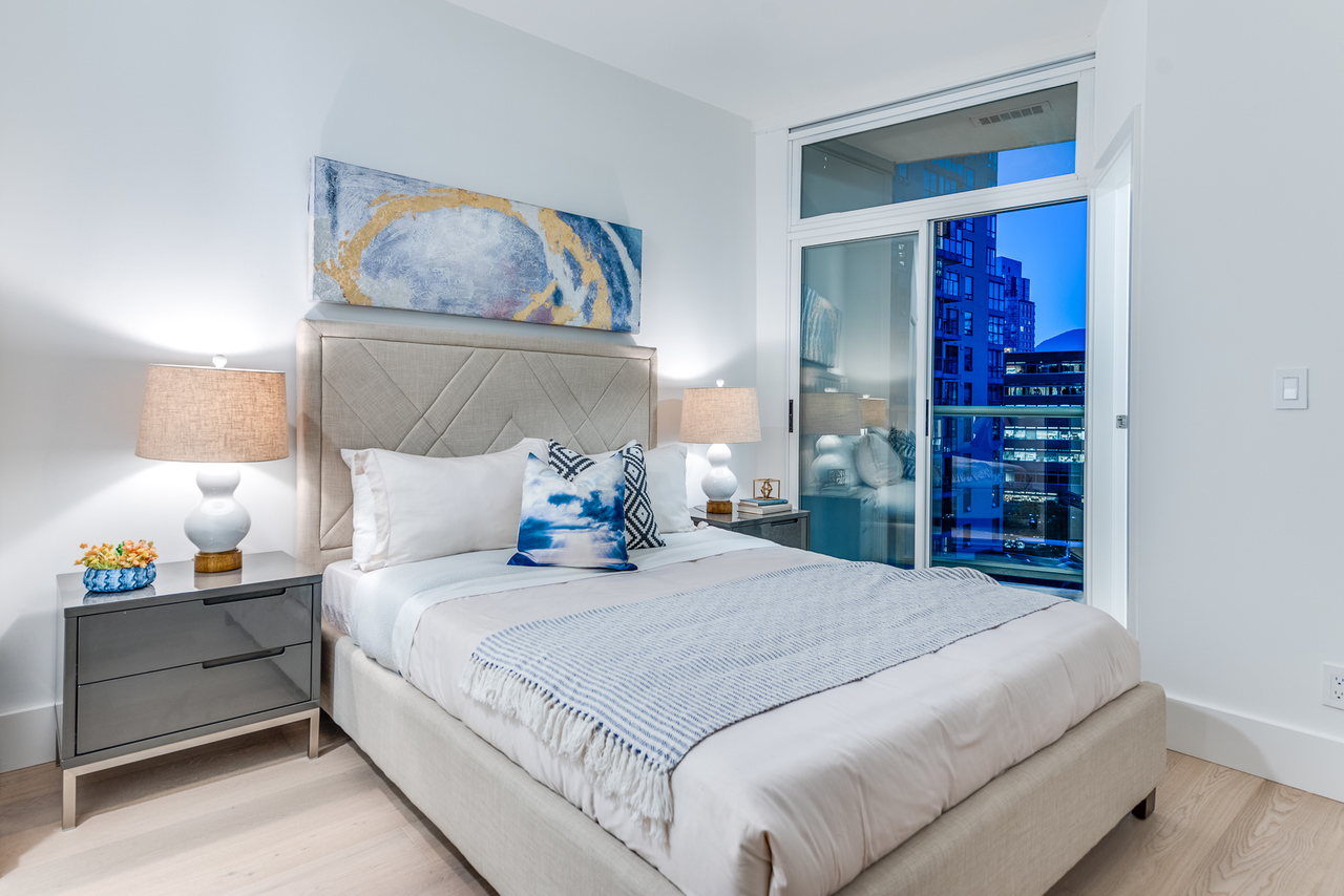 bedroom-main at 508 - 1239 Georgia, Coal Harbour, Vancouver West
