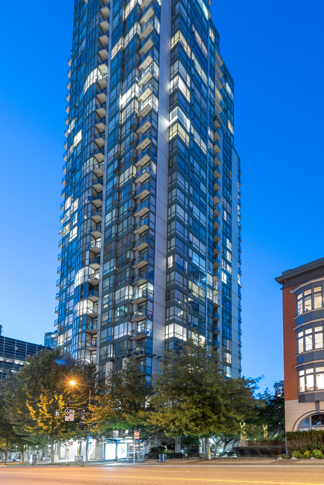 exterior at 508 - 1239 Georgia, Coal Harbour, Vancouver West
