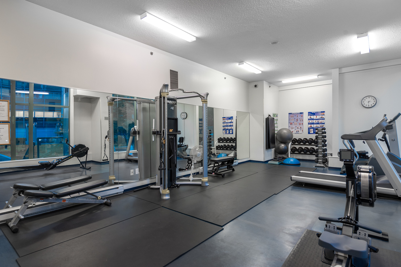 gym at 508 - 1239 Georgia, Coal Harbour, Vancouver West