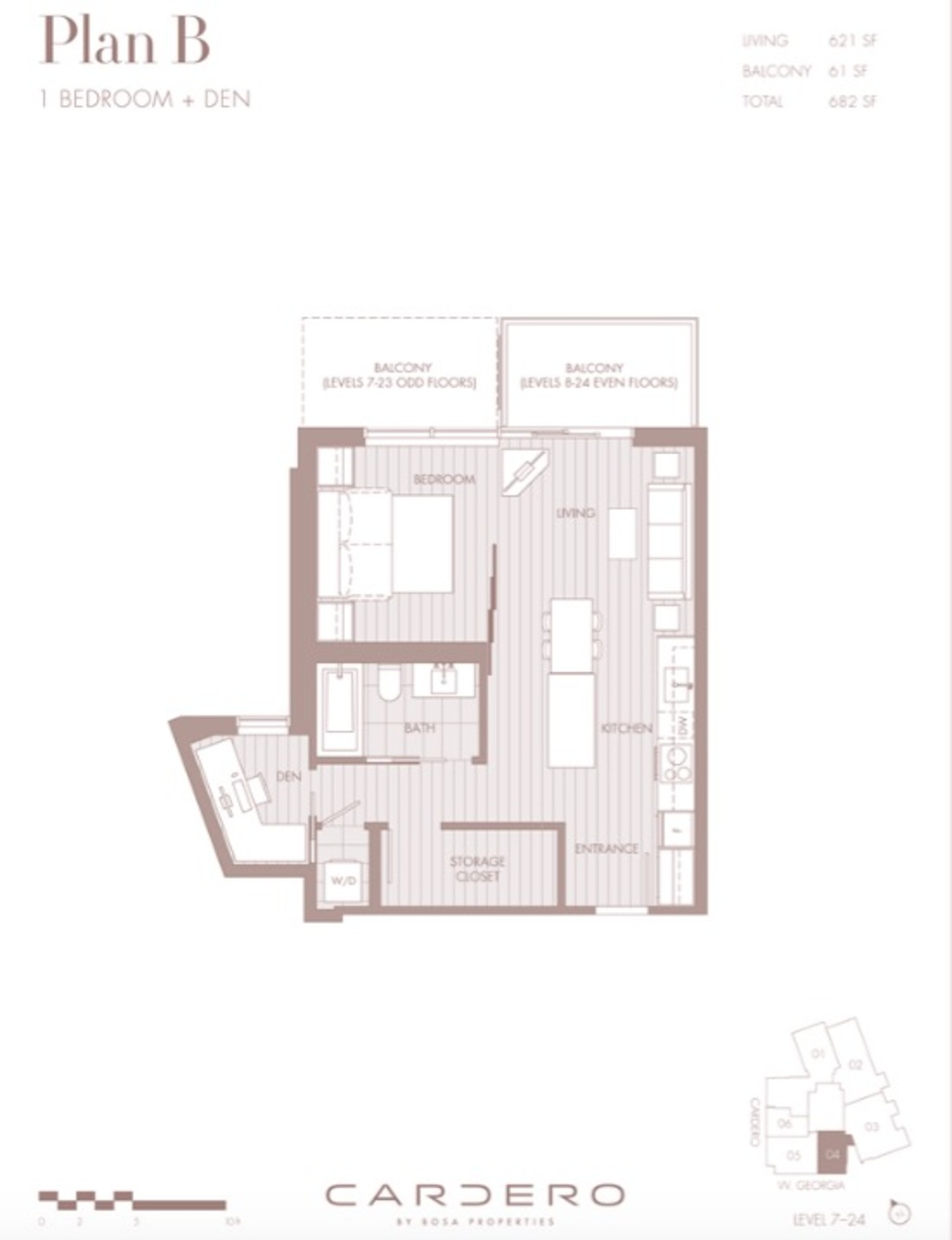 Floor Plan at 1304 - 620 Cardero, Coal Harbour, Vancouver West
