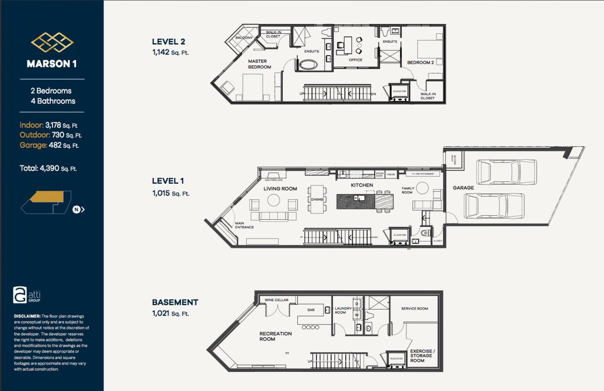 Floor Plan at 1 - 2173 Argyle, Dundarave, West Vancouver