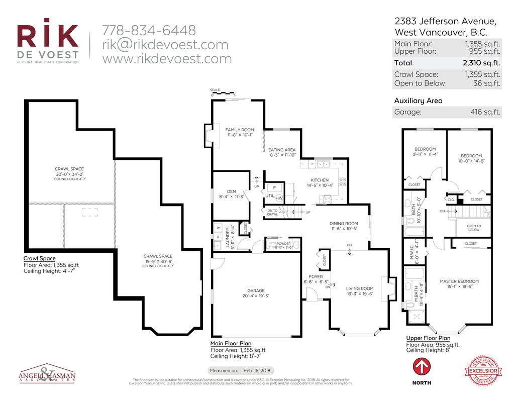 2D floor Plan at 2383 Jefferson Avenue, Dundarave, West Vancouver