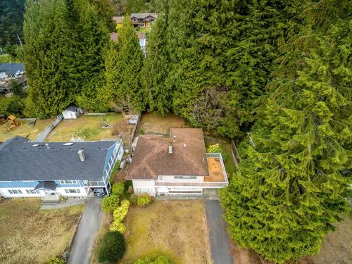 front-aerial at 1036 Clements, Canyon Heights NV, North Vancouver