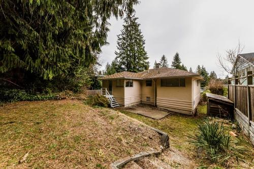 rear-yard at 1036 Clements, Canyon Heights NV, North Vancouver