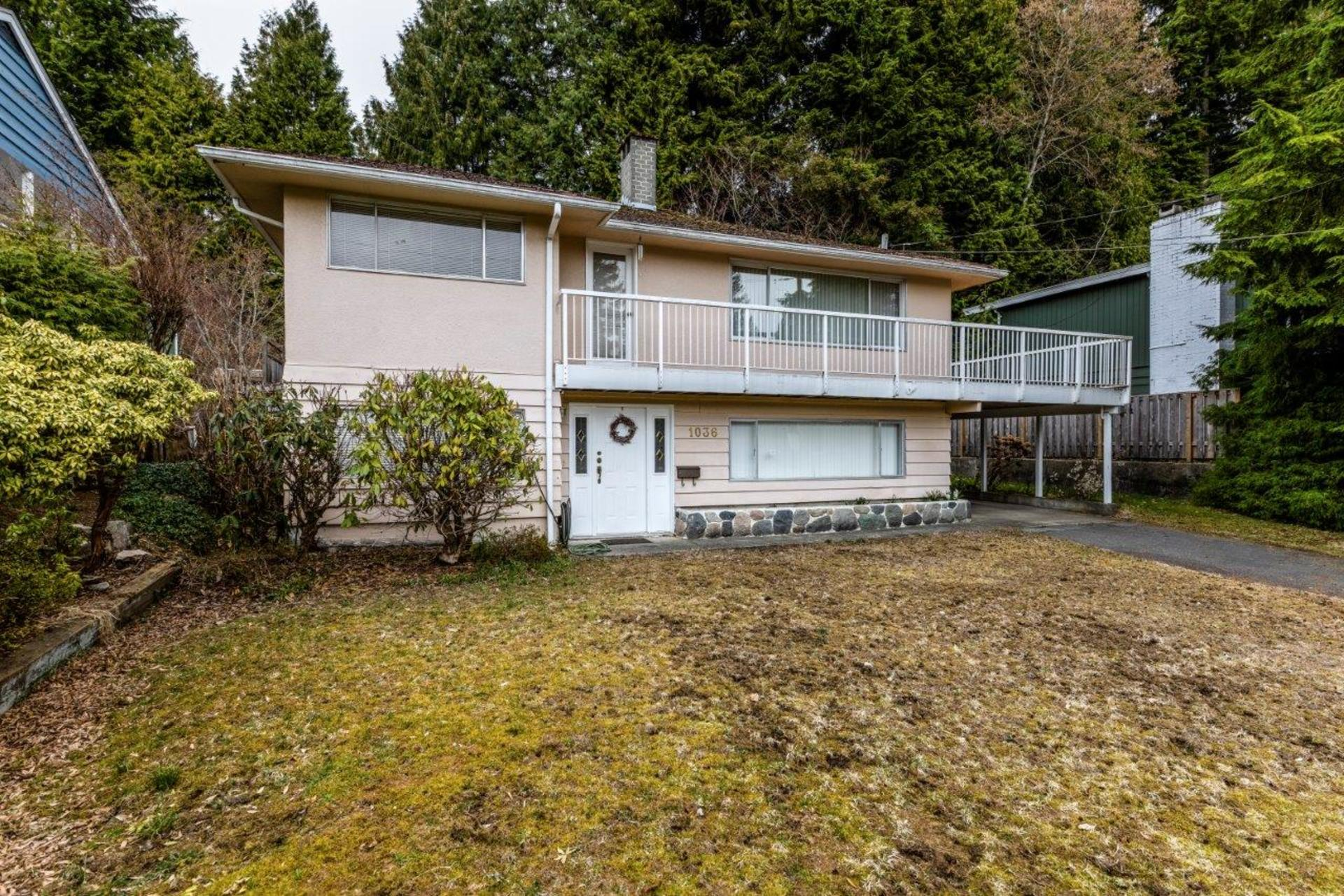 front at 1036 Clements, Canyon Heights NV, North Vancouver