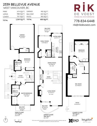 2339-bellevue-floor-plan at 2339 Bellevue Avenue, Dundarave, West Vancouver