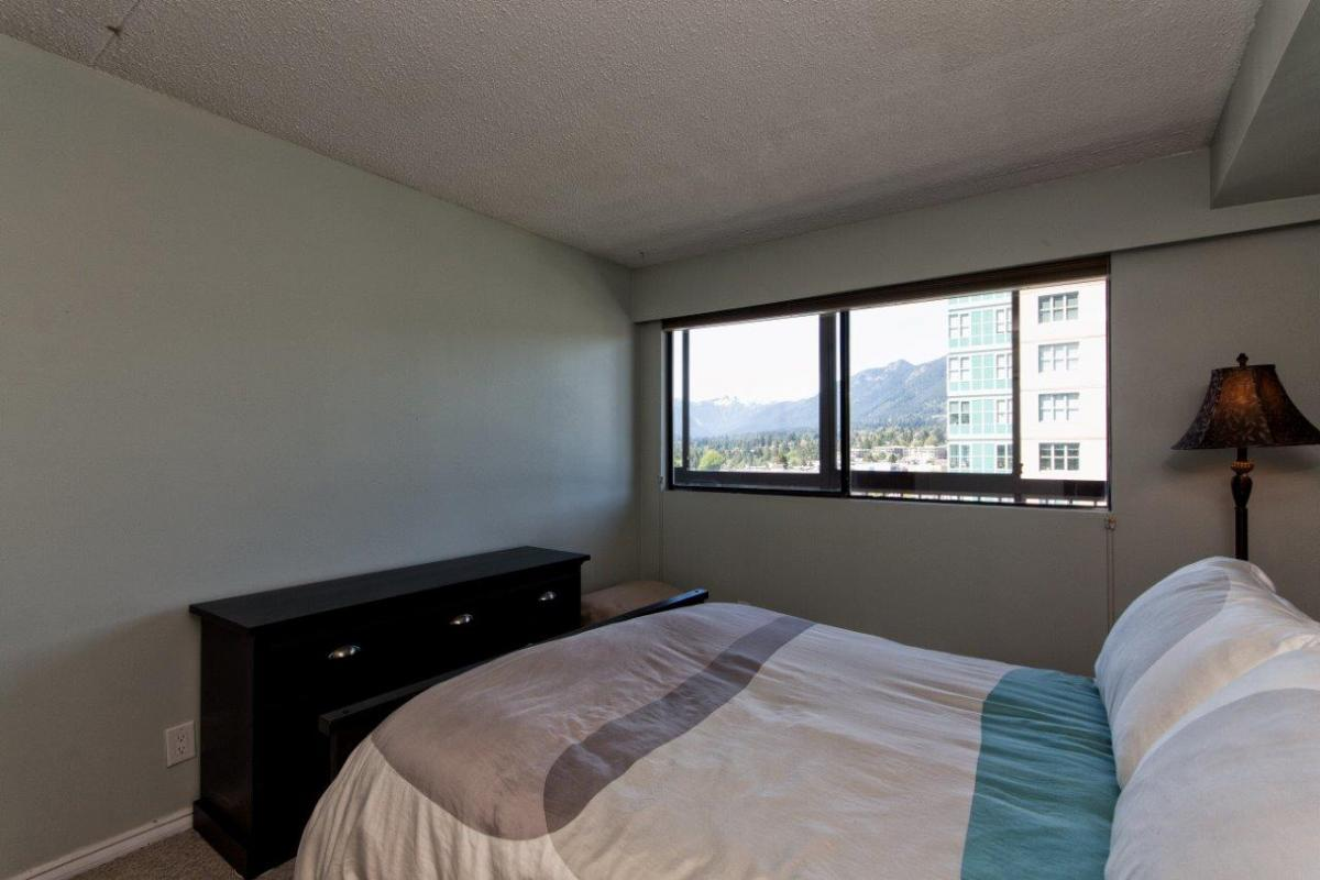 Bedroom with mountain views at 806 - 1515 Eastern Avenue, Central Lonsdale, North Vancouver