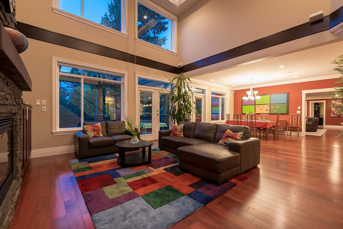 Family Room at 4102 Burkehill Road, West Vancouver