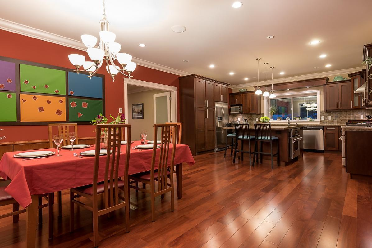 Dining Room/ Kitchen at 4102 Burkehill Road, West Vancouver