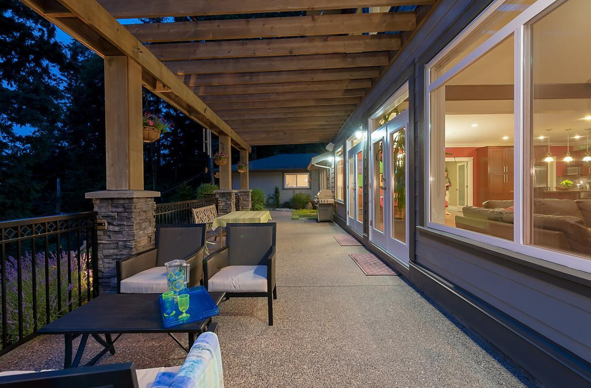 Patio at 4102 Burkehill Road, West Vancouver