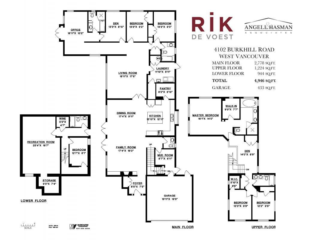Flor Plan at 4102 Burkehill Road, West Vancouver